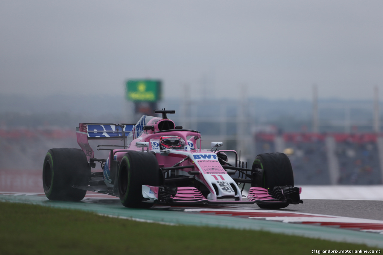 GP USA, 19.10.2018- free Practice 1, Sergio Perez (MEX) Racing Point Force India F1 VJM11