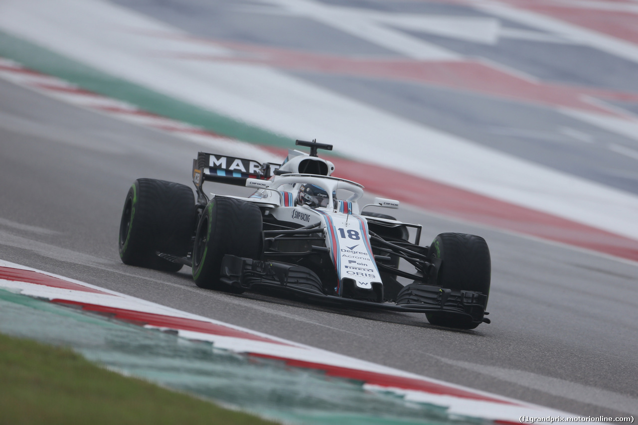 GP USA, 19.10.2018- free Practice 1, Lance Stroll (CDN) Williams FW41