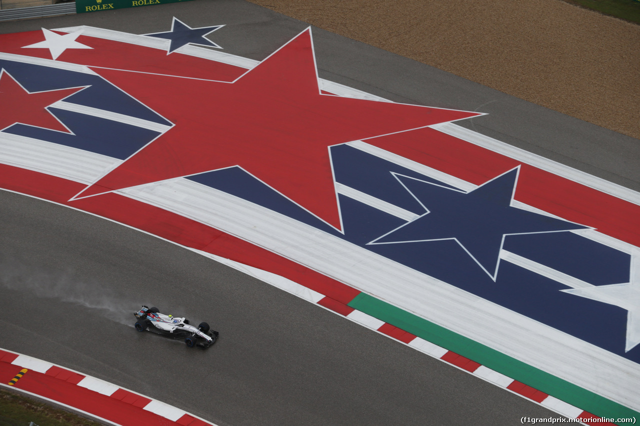 GP USA, 19.10.2018- free Practice 1, Sergej Sirotkin (RUS) Williams F1 Team FW41