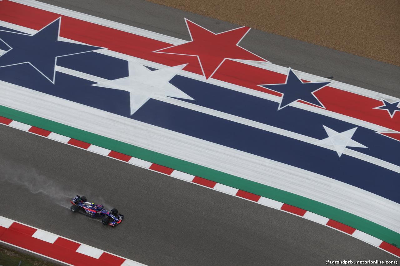GP USA, 19.10.2018- free Practice 1, Pierre Gasly (FRA) Scuderia Toro Rosso STR13