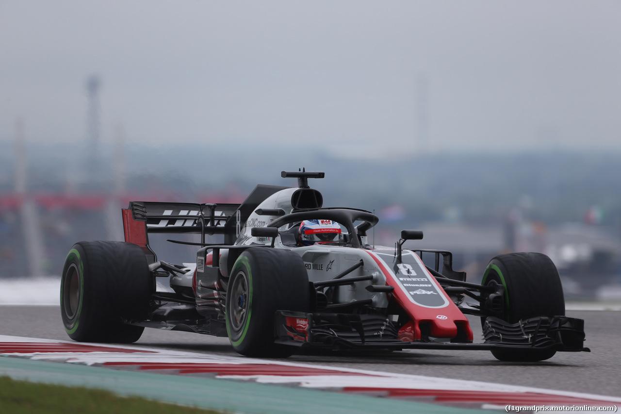GP USA, 19.10.2018- free Practice 1, Romain Grosjean (FRA) Haas F1 Team VF-18