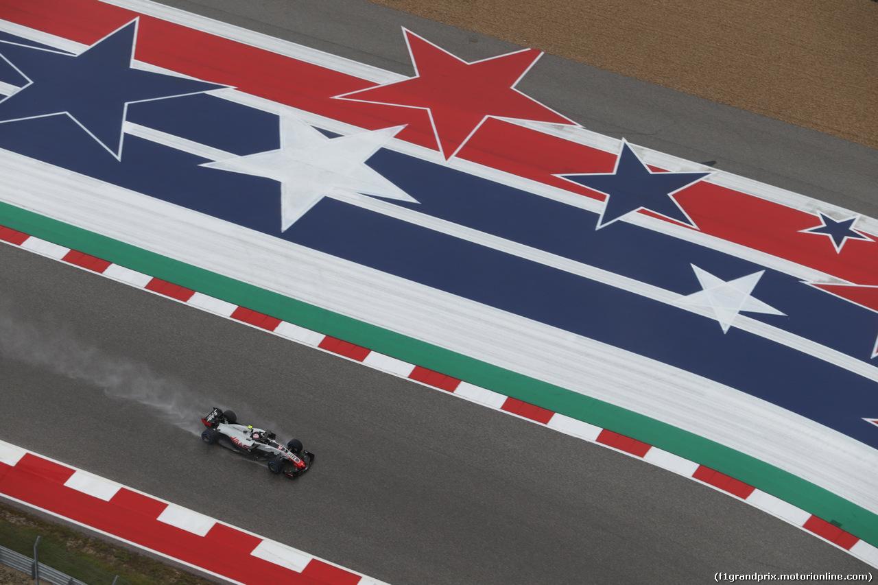GP USA, 19.10.2018- free Practice 1, Kevin Magnussen (DEN) Haas F1 Team VF-18