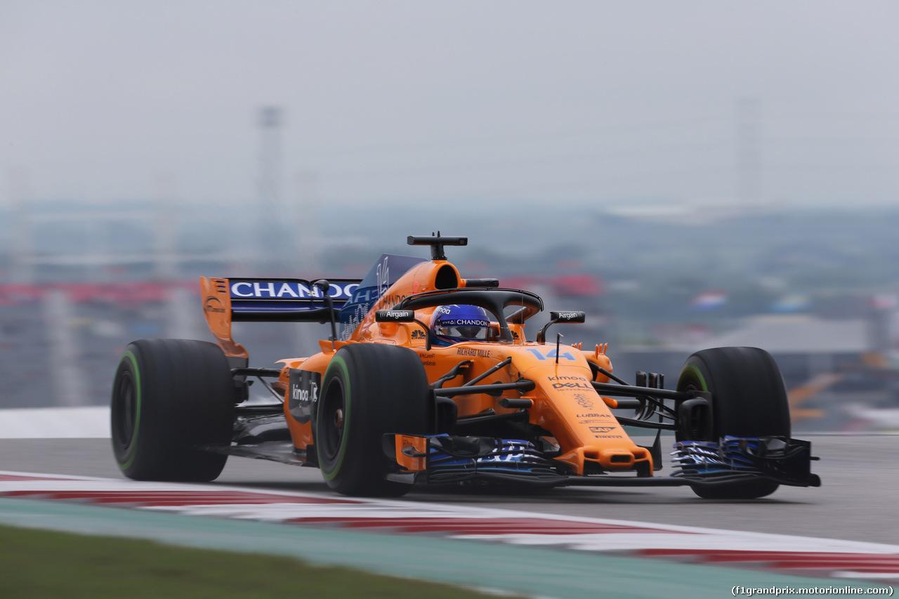 GP USA, 19.10.2018- free Practice 1, Fernando Alonso (ESP) McLaren Renault MCL33