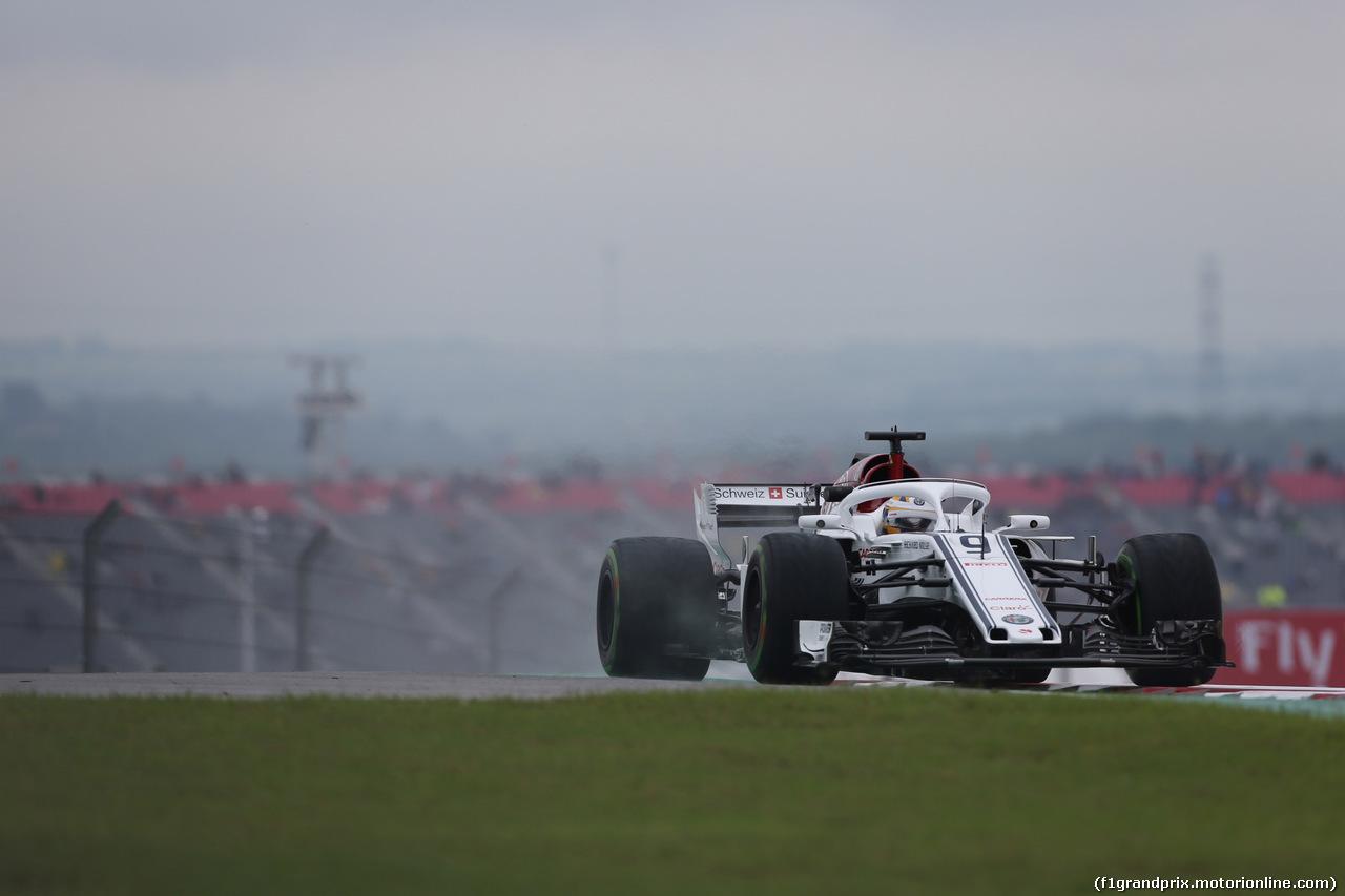GP USA, 19.10.2018- free Practice 1, Marcus Ericsson (SUE) Alfa Romeo Sauber C37