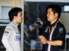 TEST F1 ABU DHABI 27 NOVEMBRE, (L to R): Sergio Perez (MEX) Racing Point Force India F1 VJM11 with Jun Matsuzaki (JPN) Racing Point Force India F1 Team Senior Tyre Engineer. 27.11.2018.