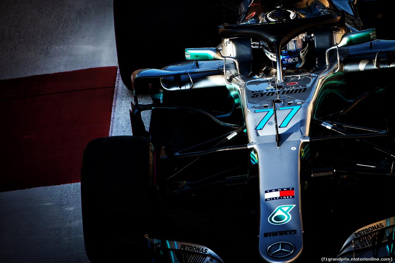 TEST F1 ABU DHABI 27 NOVEMBRE, Valtteri Bottas (FIN) Mercedes AMG F1 W09. 27.11.2018.