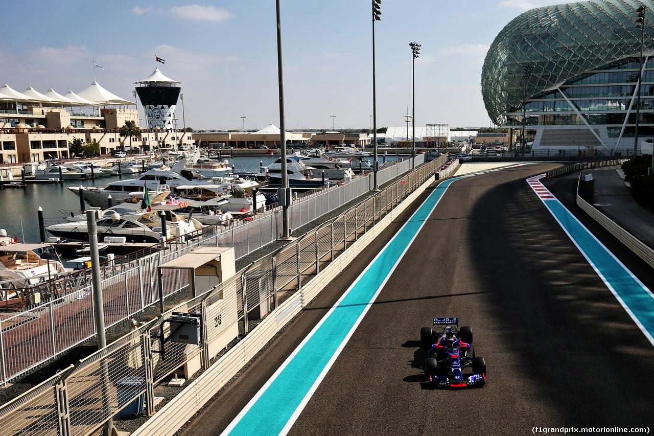 TEST F1 ABU DHABI 27 NOVEMBRE, Sean Gelael (IDN) Scuderia Toro Rosso STR13 Test Driver. 27.11.2018.