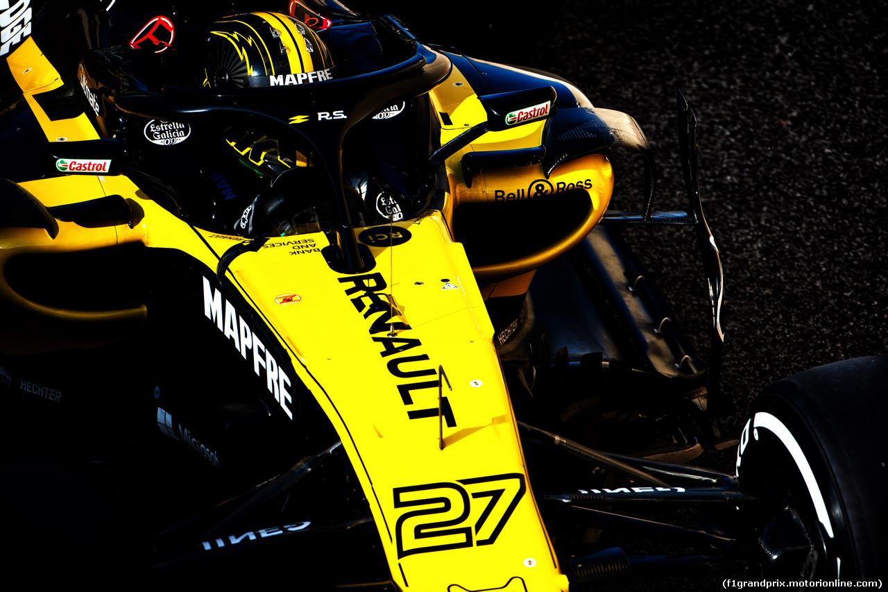 TEST F1 ABU DHABI 27 NOVEMBRE, Nico Hulkenberg (GER) Renault Sport F1 Team RS18. 27.11.2018.