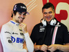 TEST F1 ABU DHABI 27 NOVEMBRE, (L to R): Lance Stroll (CDN) Racing Point Force India F1 Team with Bradley Joyce (GBR) Racing Point Force India F1 Gara Engineer. 27.11.2018.