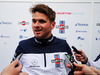 TEST F1 BARCELLONA 15 MAGGIO, Oliver Rowland (GBR) Williams FW41 Test Driver with the media. 15.05.2018.