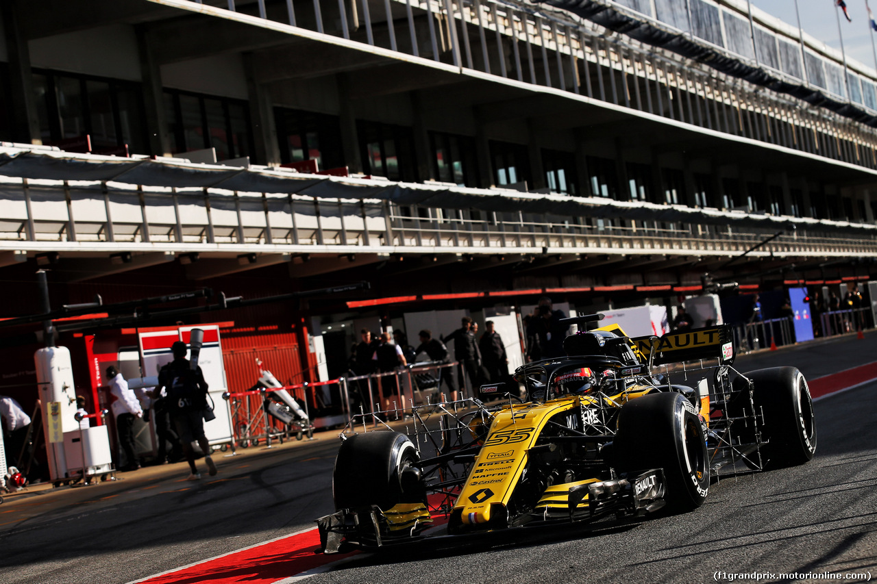 TEST F1 BARCELLONA 15 MAGGIO, Carlos Sainz Jr (ESP) Renault Sport F1 Team RS18 running sensor equipment. 15.05.2018.