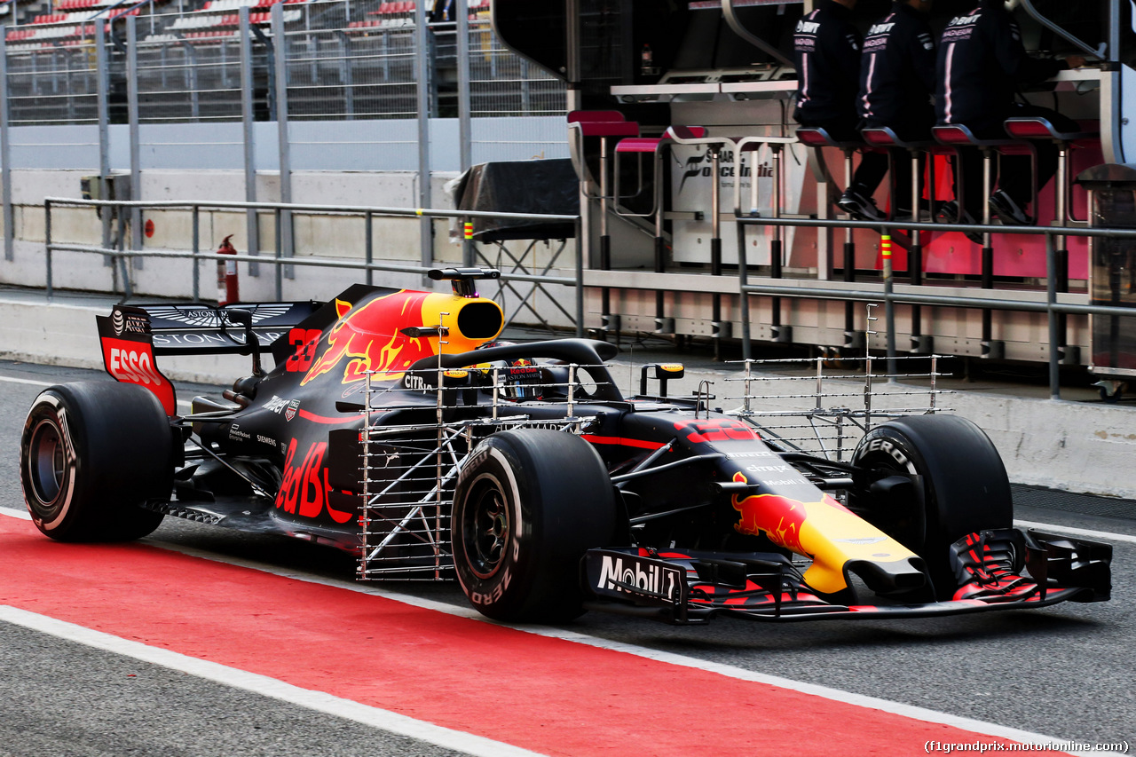 TEST F1 BARCELLONA 15 MAGGIO, Max Verstappen (NLD) Red Bull Racing RB14 with sensor equipment. 15.05.2018.
