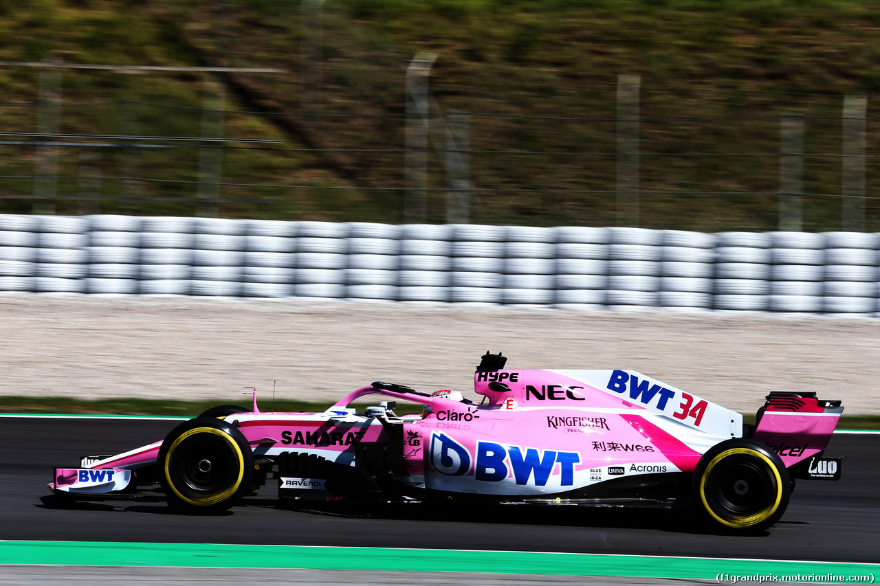 TEST F1 BARCELLONA 15 MAGGIO, Nicholas Latifi (CDN) Sahara Force India F1 VJM11 Development Driver. 15.05.2018.