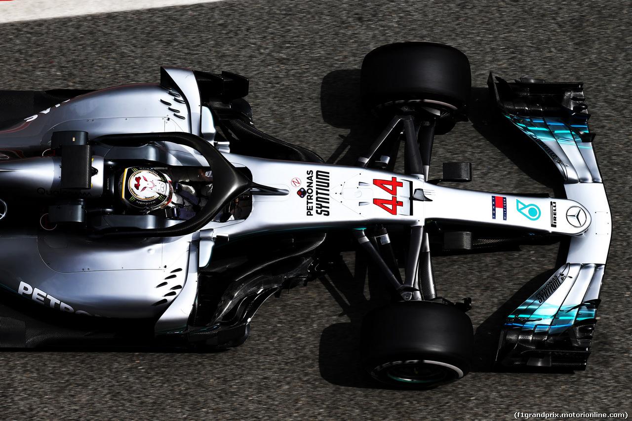 TEST F1 BARCELLONA 15 MAGGIO, Lewis Hamilton (GBR) Mercedes AMG F1 W09. 15.05.2018.