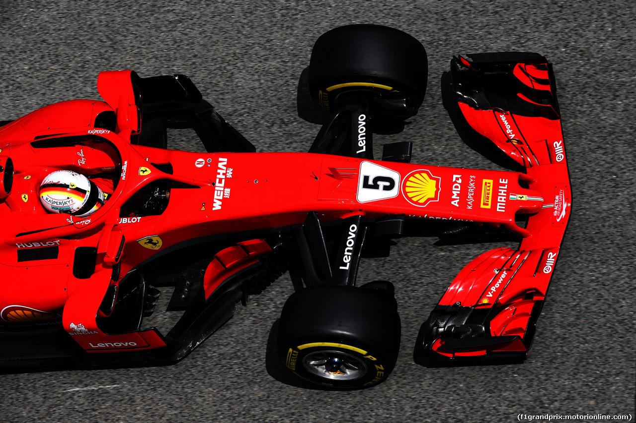 TEST F1 BARCELLONA 15 MAGGIO, Sebastian Vettel (GER) Ferrari SF71H. 15.05.2018.