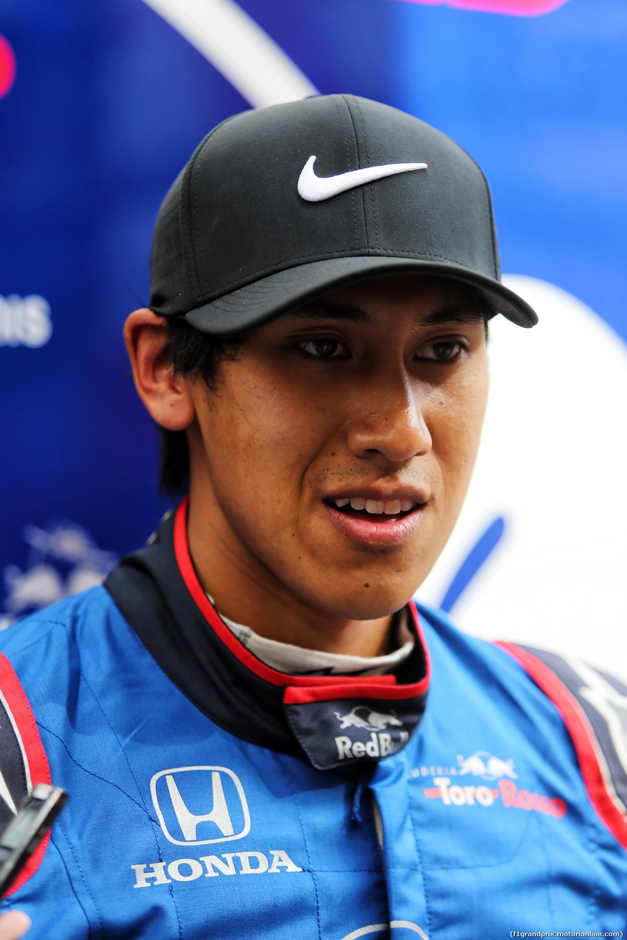TEST F1 BARCELLONA 15 MAGGIO, Sean Gelael (IDN) Scuderia Toro Rosso Test Driver with the media. 15.05.2018.