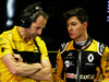TEST F1 BARCELLONA 16 MAGGIO, (L to R): Ciaron Pilbeam (GBR) Renault Sport F1 Team Chief Gara Engineer with Jack Aitken (GBR) / (KOR) Renault Sport F1 Team Test e Reserve Driver. 16.05.2018.