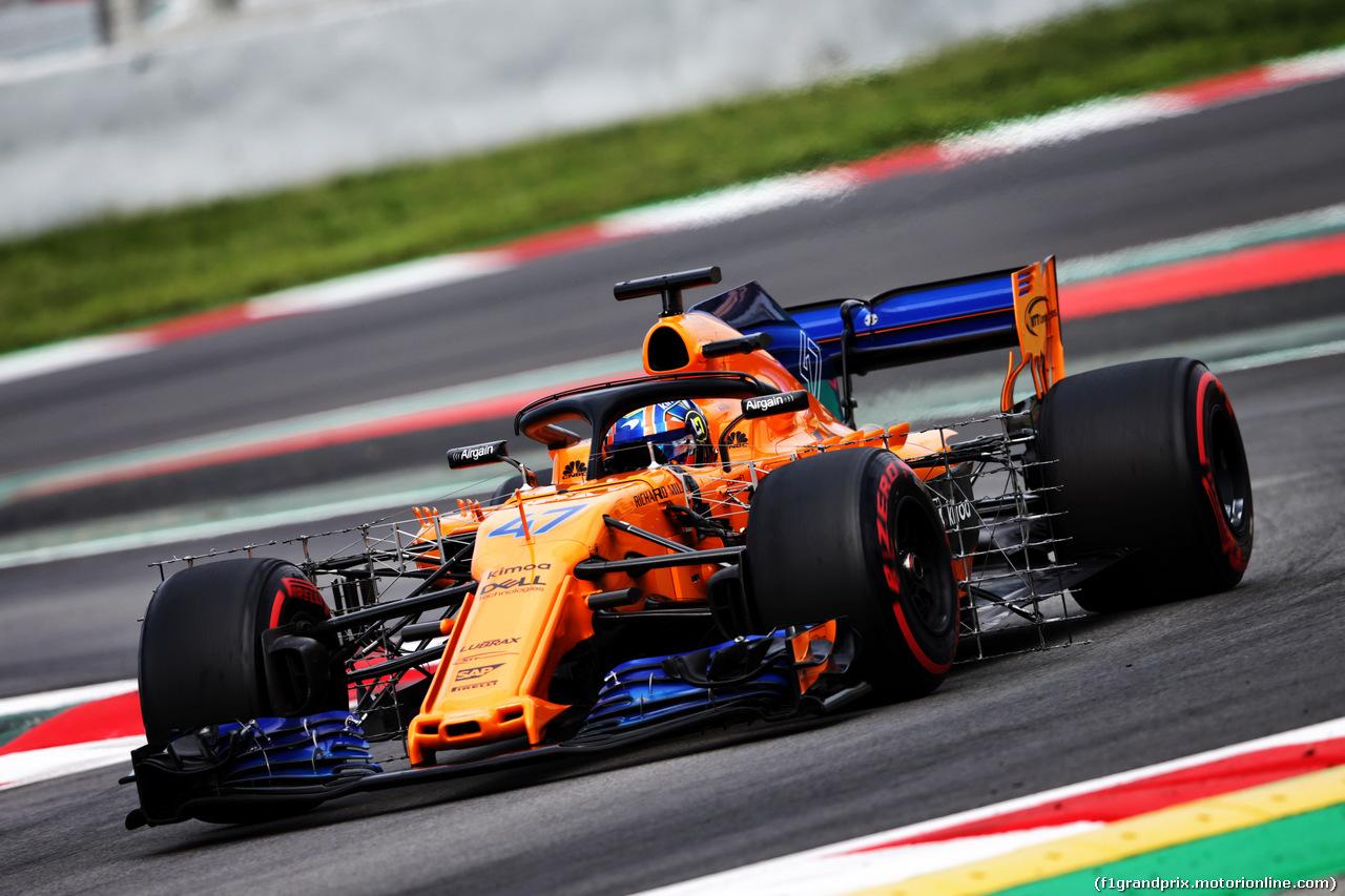 TEST F1 BARCELLONA 16 MAGGIO, Lando Norris (GBR) McLaren MCL33 Test Driver. 16.05.2018.