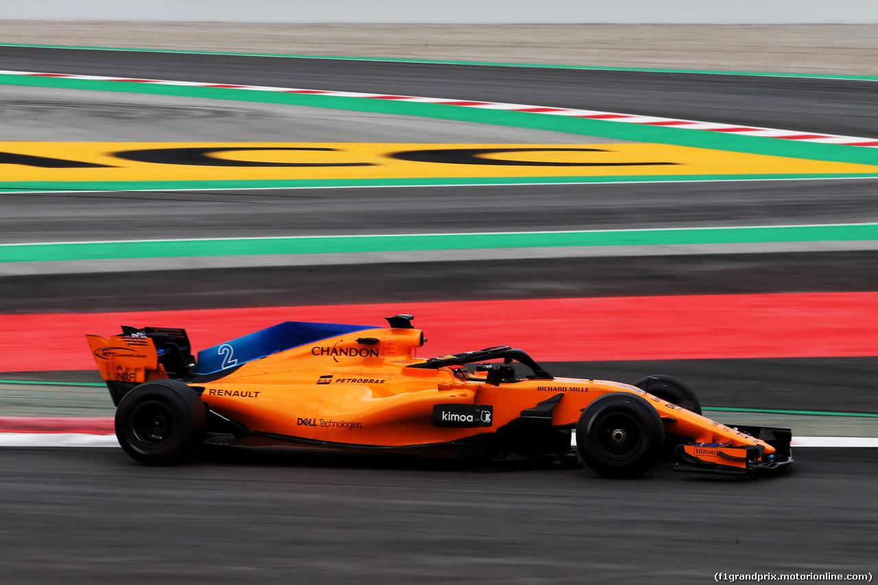 TEST F1 BARCELLONA 16 MAGGIO, Stoffel Vandoorne (BEL) McLaren MCL33. 16.05.2018.