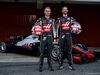 TEST F1 BARCELLONA 26 FEBBRAIO, (L to R): Kevin Magnussen (DEN) Haas F1 Team e Romain Grosjean (FRA) Haas F1 Team reveal the Haas VF-18. 26.02.2018.