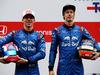 TEST F1 BARCELLONA 26 FEBBRAIO, (L to R): Pierre Gasly (FRA) Scuderia Toro Rosso with Brendon Hartley (NZL) Scuderia Toro Rosso. 26.02.2018.