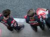 TEST F1 BARCELLONA 26 FEBBRAIO, (L to R): Romain Grosjean (FRA) Haas F1 Team e Kevin Magnussen (DEN) Haas F1 Team. 26.02.2018.