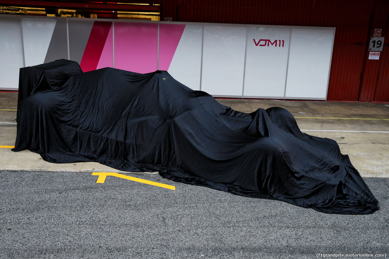 TEST F1 BARCELLONA 26 FEBBRAIO, The Sahara Force India F1 VJM11 under wraps. 26.02.2018.