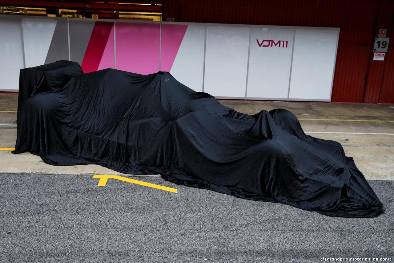 TEST F1 BARCELLONA 26 FEBBRAIO, The Sahara Force India F1 VJM11 under wraps. 26.02.2018.