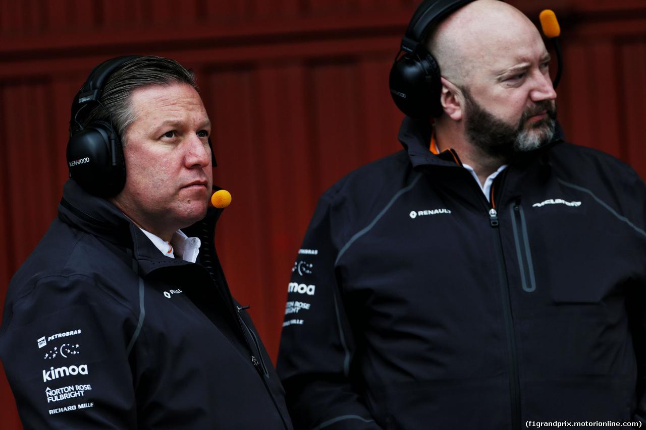 TEST F1 BARCELLONA 26 FEBBRAIO, Zak Brown (USA) McLaren Executive Director. 26.02.2018.