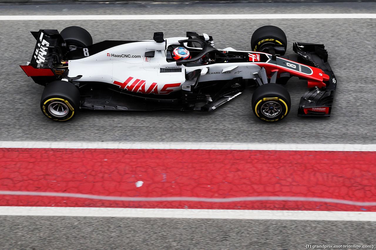 TEST F1 BARCELLONA 26 FEBBRAIO, Romain Grosjean (FRA) Haas F1 Team VF-18. 26.02.2018.