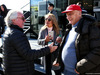 TEST F1 BARCELLONA 8 MARZO, (L to R): Keke Rosberg (FIN) with Niki Lauda (AUT) Mercedes Non-Executive Chairman. 07.03.2018.