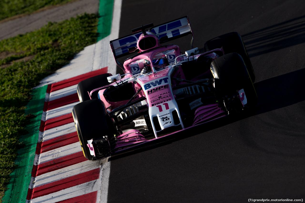 TEST F1 BARCELLONA 8 MARZO, Sergio Perez (MEX) Sahara Force India F1 VJM11. 06.03.2018.