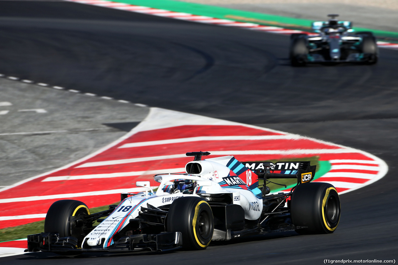 TEST F1 BARCELLONA 8 MARZO, Lance Stroll (CDN) Williams FW41. 07.03.2018.