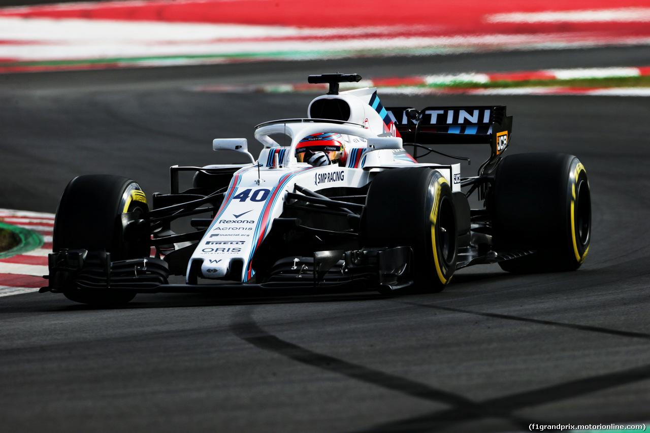 TEST F1 BARCELLONA 8 MARZO, Robert Kubica (POL) Williams FW41 Reserve e Development Driver. 08.03.2018.