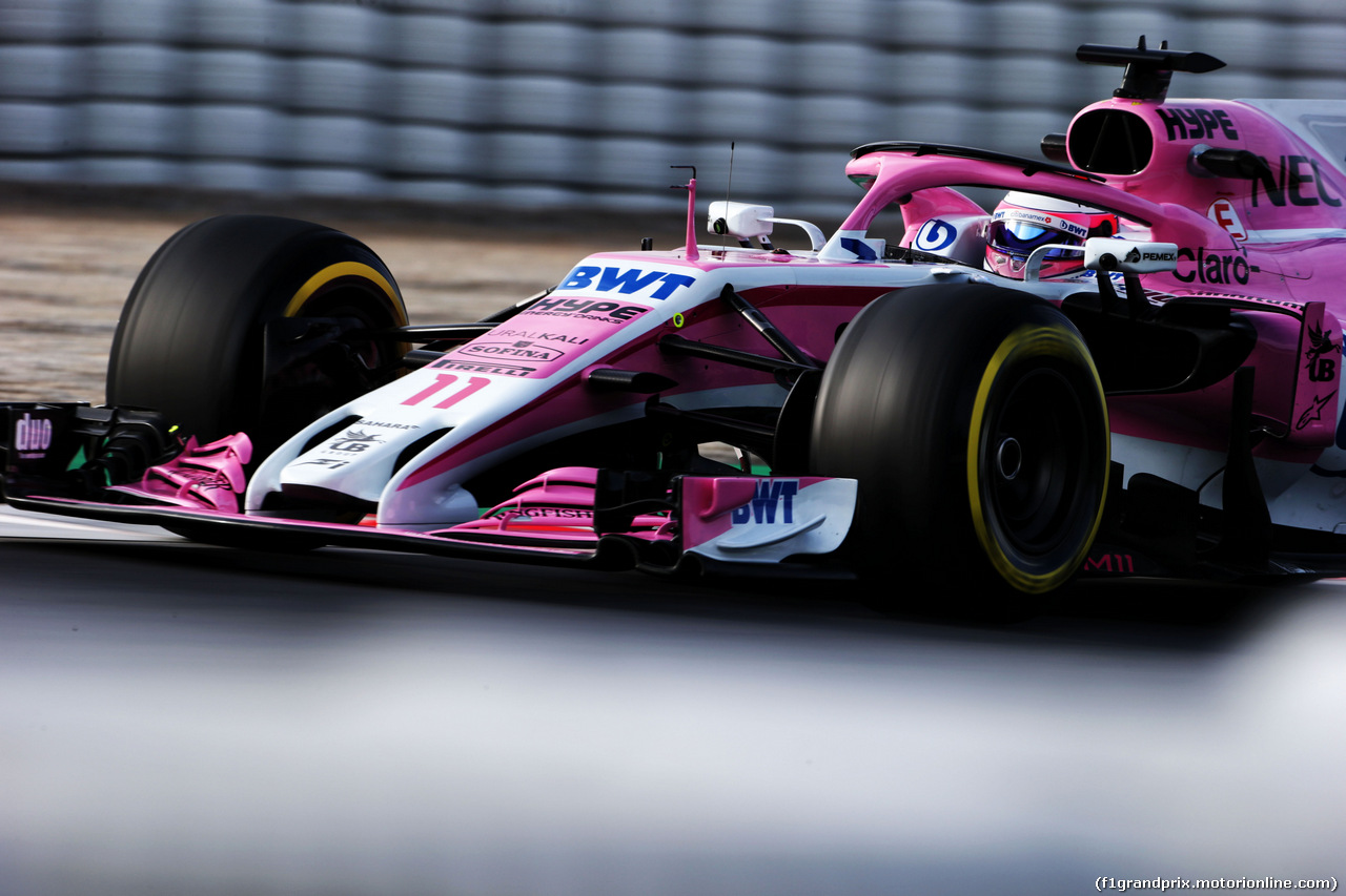 TEST F1 BARCELLONA 8 MARZO, Sergio Perez (MEX) Sahara Force India F1 VJM11. 08.03.2018.