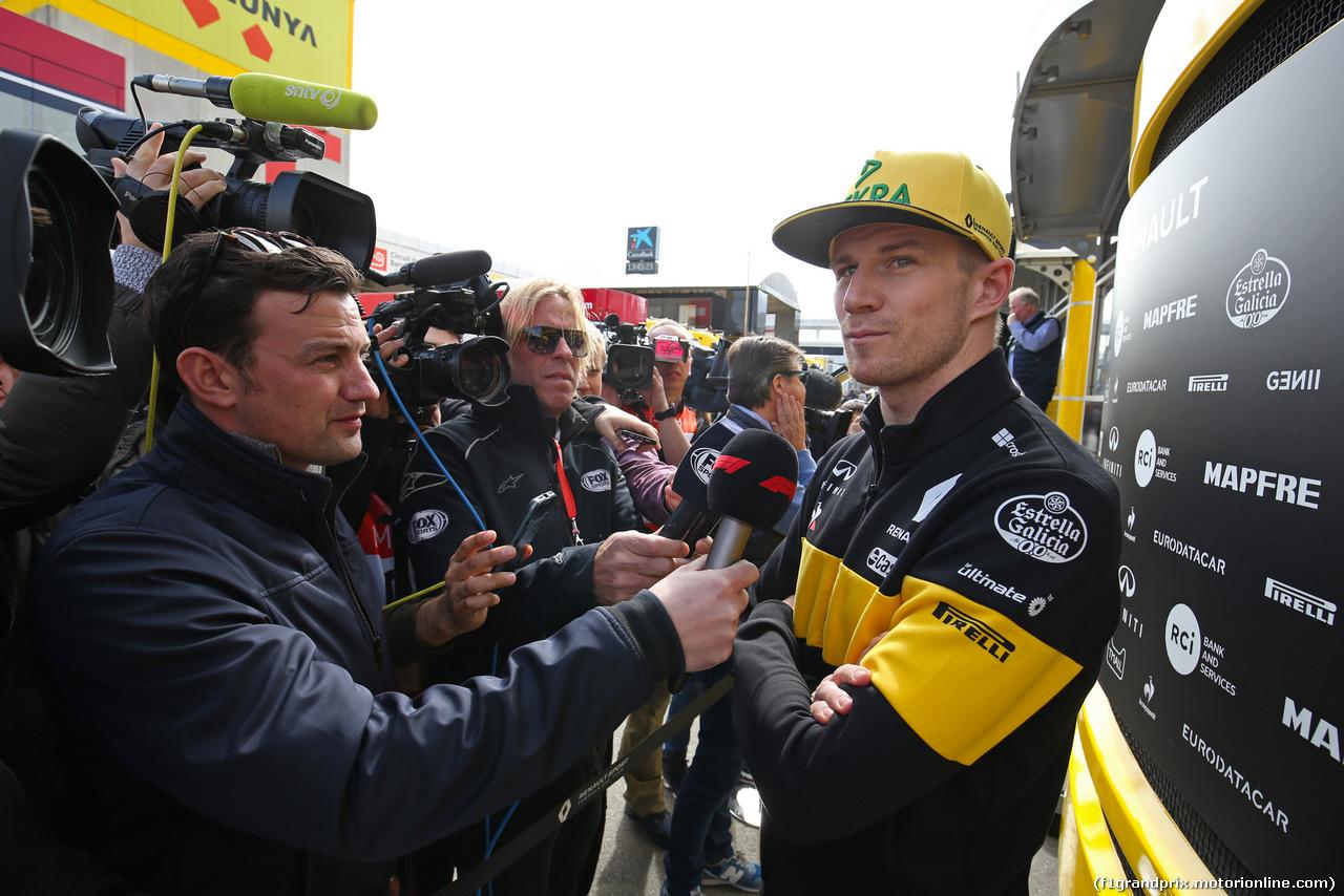 TEST F1 BARCELLONA 8 MARZO, Nico Hulkenberg (GER) Renault Sport F1 Team  08.03.2018.