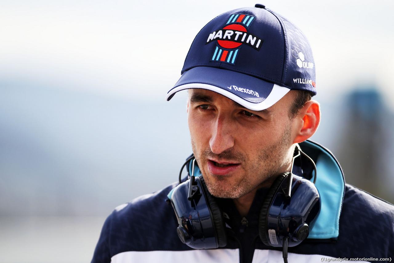 TEST F1 BARCELLONA 8 MARZO, Robert Kubica (POL) Williams Reserve e Development Driver. 08.03.2018.
