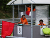 TEST F1 UNGHERIA 31 LUGLIO, Marshal with regd flag. 31.07.2018.