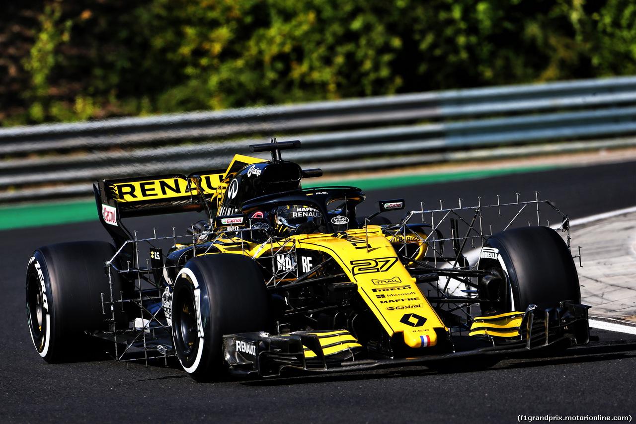 TEST F1 UNGHERIA 31 LUGLIO, Nico Hulkenberg (GER) Renault Sport F1 Team RS18. 31.07.2018.