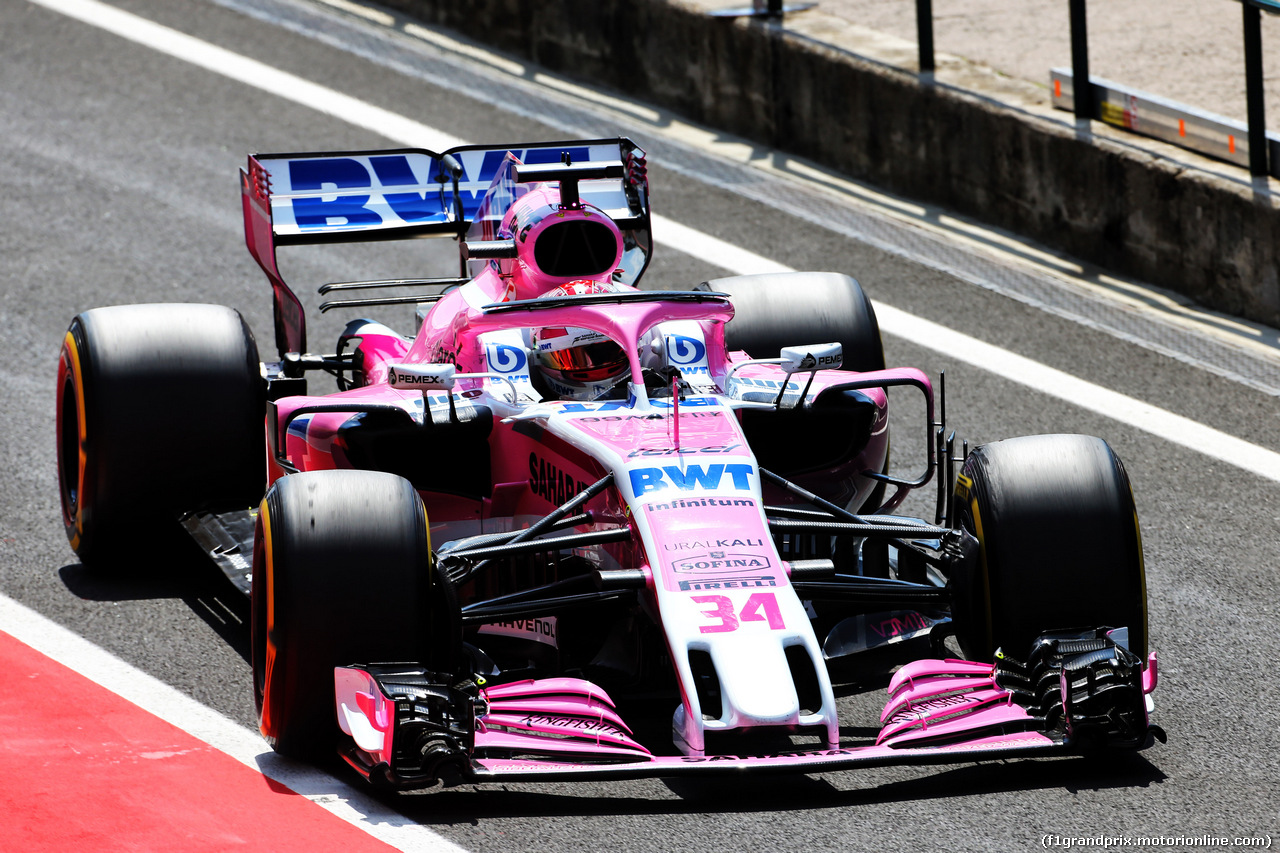 TEST F1 UNGHERIA 31 LUGLIO, Nicholas Latifi (CDN) Sahara Force India F1 VJM11 Development Driver. 31.07.2018.