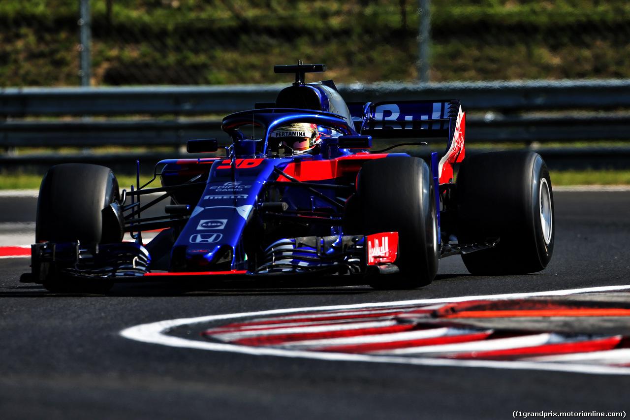 TEST F1 UNGHERIA 31 LUGLIO, Sean Gelael (IDN) Scuderia Toro Rosso STR13 Test Driver. 31.07.2018.