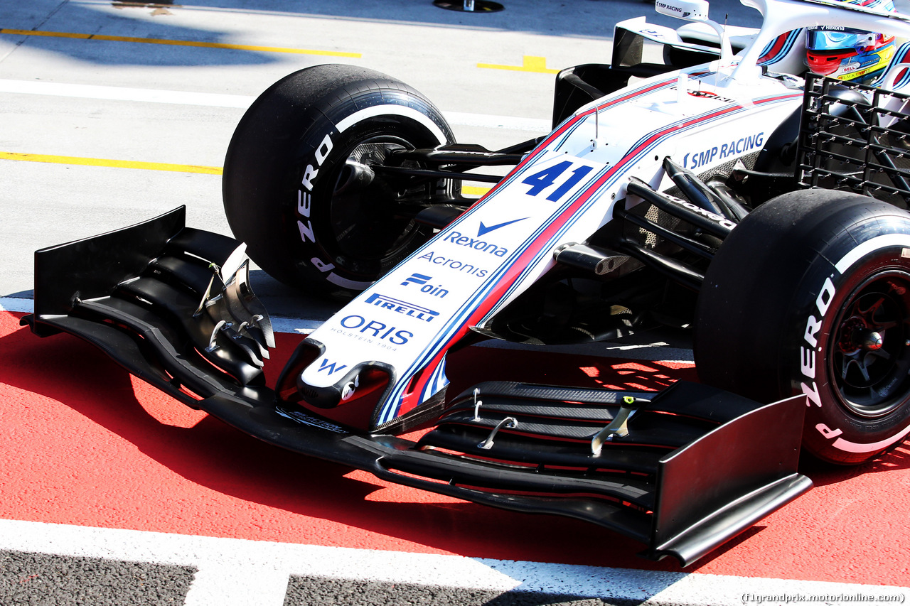 TEST F1 UNGHERIA 31 LUGLIO, Oliver Rowland (GBR) Williams FW41 Test Driver - front wing. 31.07.2018.