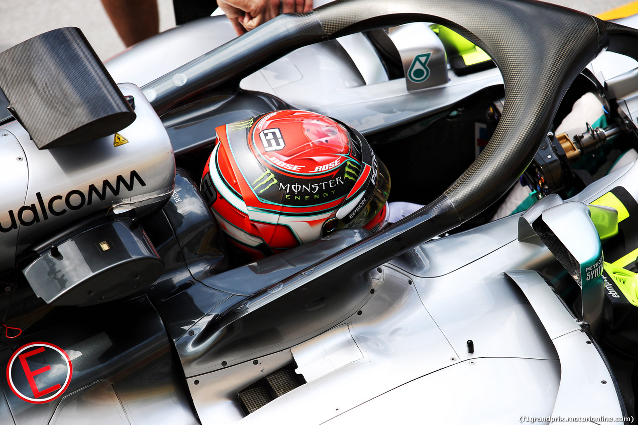 TEST F1 UNGHERIA 31 LUGLIO, George Russell (GBR) Mercedes AMG F1 W09 Reserve Driver. 31.07.2018.