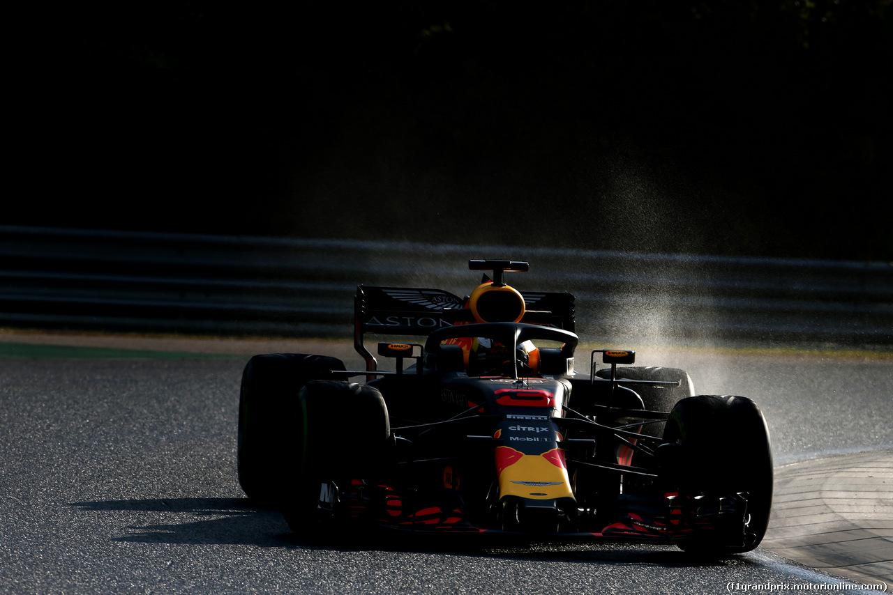 TEST F1 UNGHERIA 31 LUGLIO, Daniel Ricciardo (AUS) Red Bull Racing  31.07.2018.