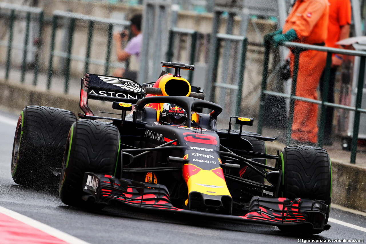 TEST F1 UNGHERIA 31 LUGLIO, Daniel Ricciardo (AUS) Red Bull Racing RB14. 31.07.2018.