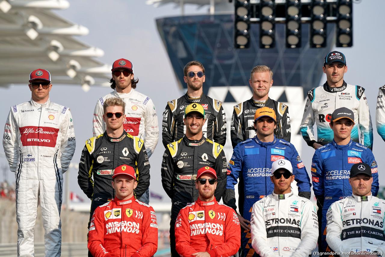 GP ABU DHABI, Drivers end of year photograph. 01.12.2019.
