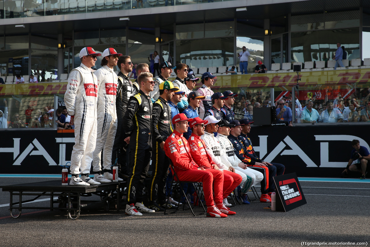 GP ABU DHABI, 2019 Drivers photo. 01.12.2019.