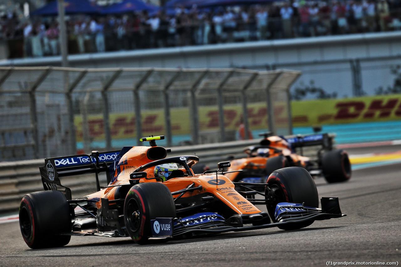 GP ABU DHABI, Lando Norris (GBR) McLaren MCL34. 01.12.2019.