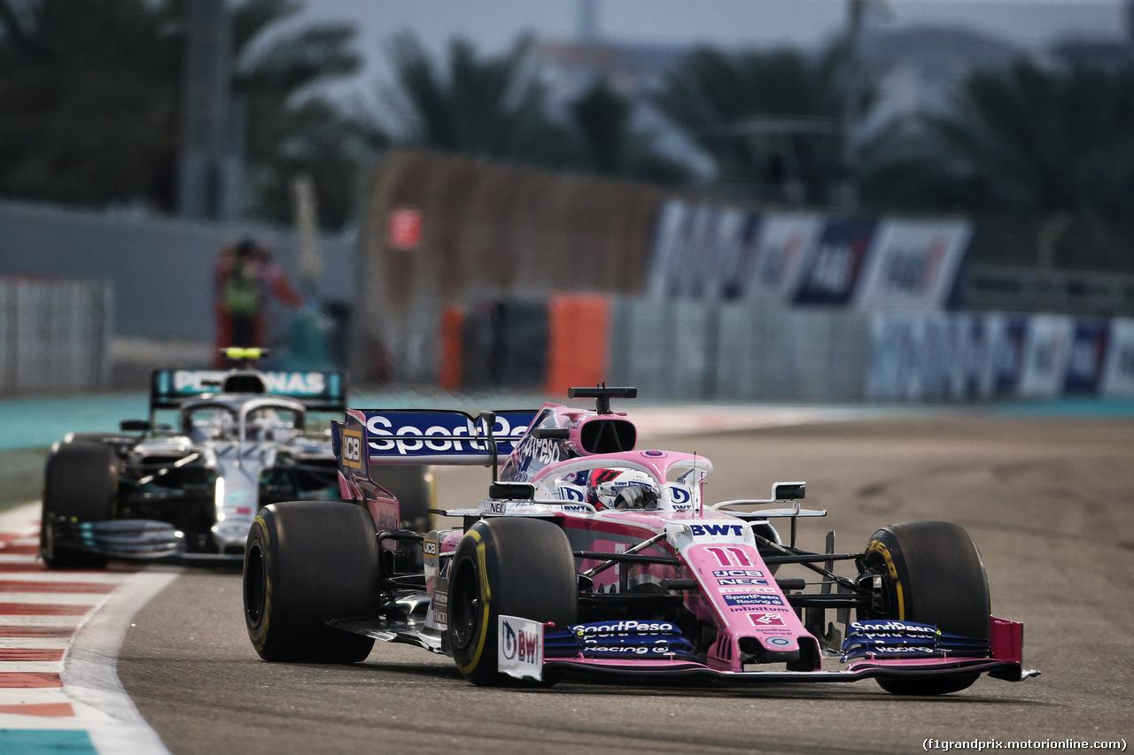 GP ABU DHABI, Sergio Perez (MEX) Racing Point F1 Team RP19. 01.12.2019.