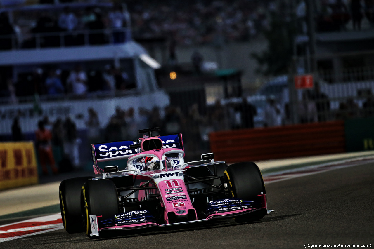 GP ABU DHABI, Sergio Perez (MEX) Racing Point F1 Team RP19. 01.12.2019.
